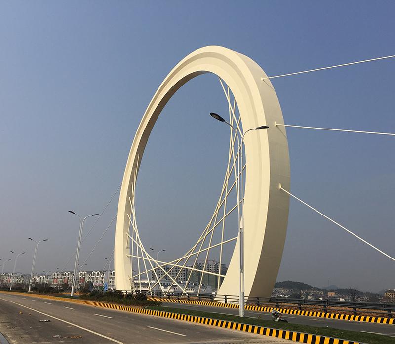 上饶稼轩大道钢结构景观大桥项目
